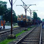 Indian freight train at Chilahati, fifty-five years later